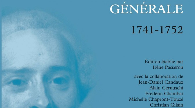 Correspondance de D'Alembert 1741-1752